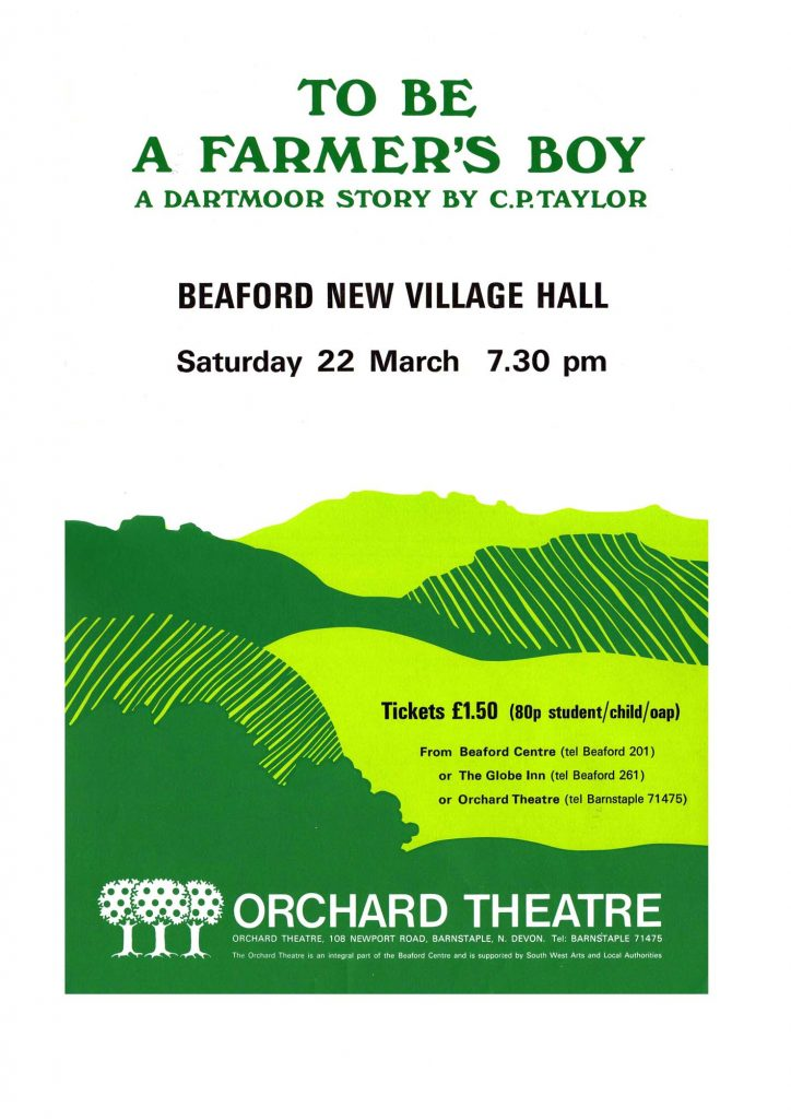 farmers boy poster orchard theatre cp taylor jane beeson